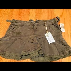 GUESS Olive Green Twirling Skirt! Brand new!